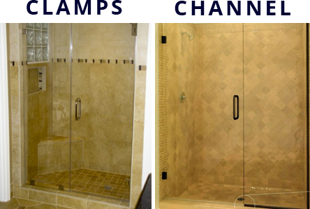 cl&s-channel & Valley Shower Door - Clamps vs Channel